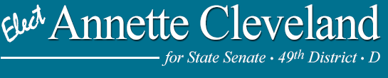 Annette Cleveland for State Senate 49th Legislative District